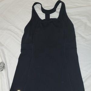 Athleta Black Mesh insert Tank top w/built in bra